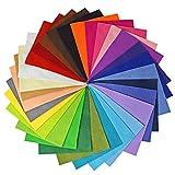 Vaessen Creative Hojas de Fieltro A5, Multicolor, 15x20 cm, 30 Unidades