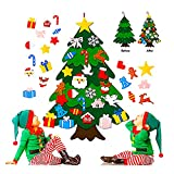 Flysee 3D Arbol Navidad Fieltro DIY,3.3ft 25 Piezas Arbol de Navidad Fieltro Decoración...