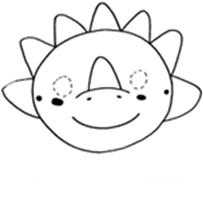 corta y colorea la mascara de dinosaurio infantil