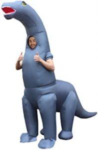 MORPH gonflable Disfraz, Diplodocus Dinosaure Adultes, Talla única para Hombre