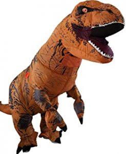 disfraz de dinosaurio rex inflable