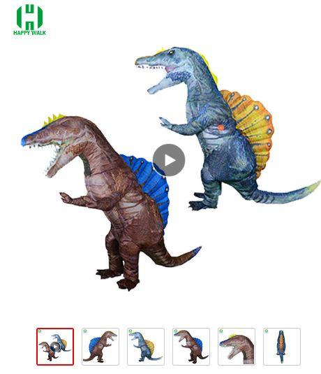 dinosaurio inflable de dimetrodon